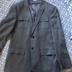 Heather gray Calvin Klein blazer, only worn once!